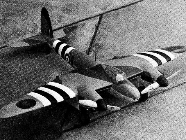 DH FB Mk VI Mosquito  (oz2615) by Paul Palanek from Flying Models 1963