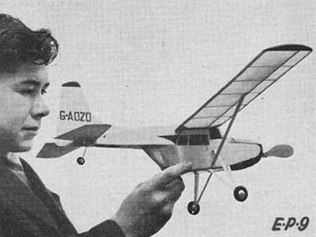 Edgar Percival EP 9 (oz2618) by Ray Malmstrom from Eagle book of Model Aircraft 1959