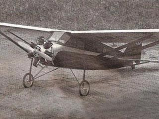 Stinson SM-2 Junior (oz2624) by WR Stroman from Model Airplane News 1983