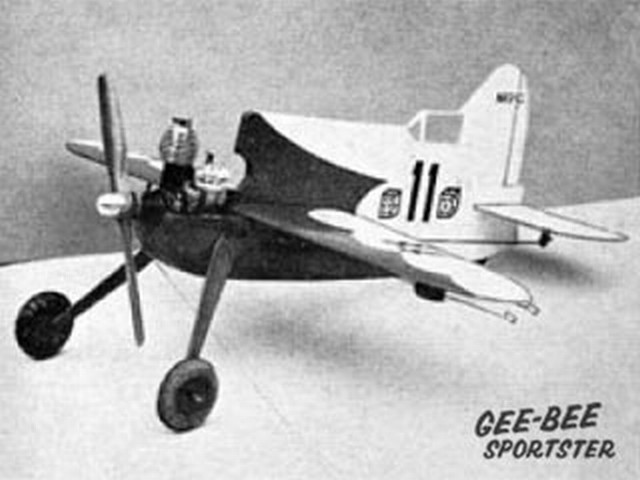 Gee Bee Sportster (oz2631) by Ray Malmstrom from Eagle Book of Model Aircraft 1959