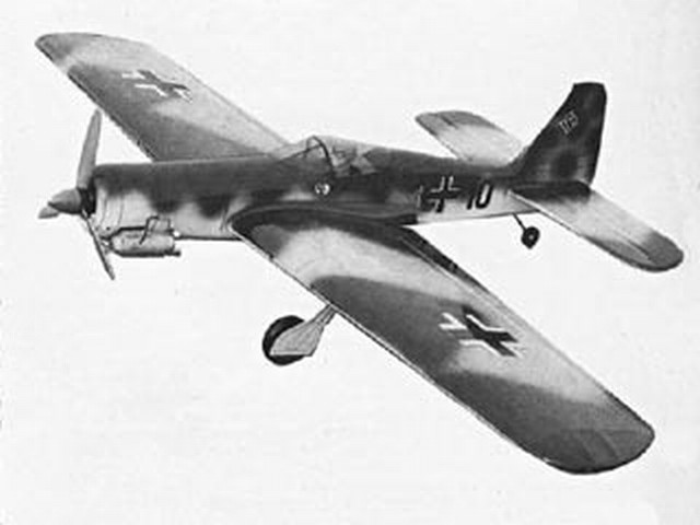 Focke Wulf 190 (oz2648) by Claus Maikis from Aeromodeller 1976