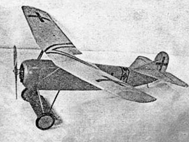 Fokker D8 (oz2665) by Earl Stahl, Al Patterson from Model Builder 1980