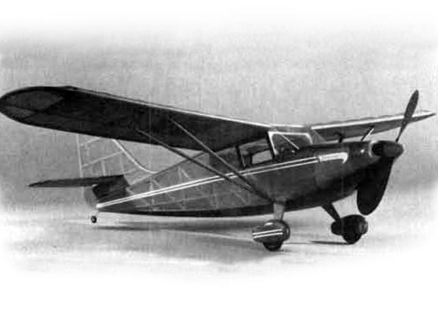 Stinson Voyager (oz2667) by Earl Stahl, Hurst Bowers from Flyline 1948