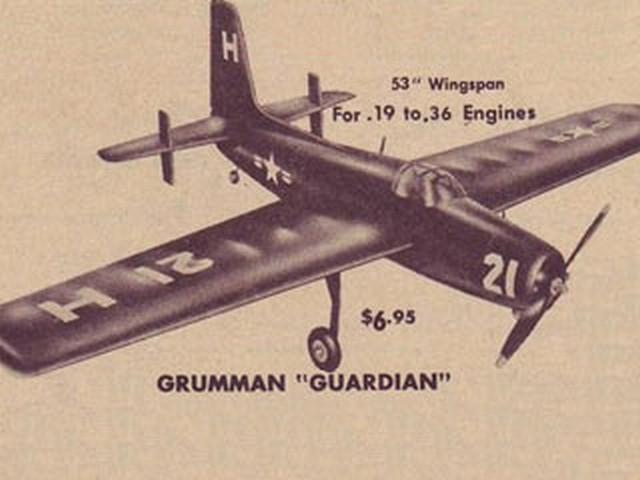 Grumman Guardian AF-2S (oz2729) by Bob Elliott from Berkeley 1954