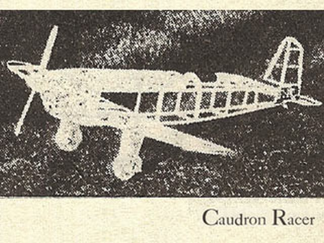 Caudron Racer (oz2733) by Marion Clarke, Robert Smith from Flying Aces 1936