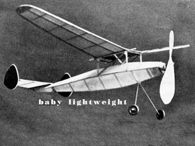 Baby Lightweight - LE Burbridge - Aeromodeller - March 1943 - 22in