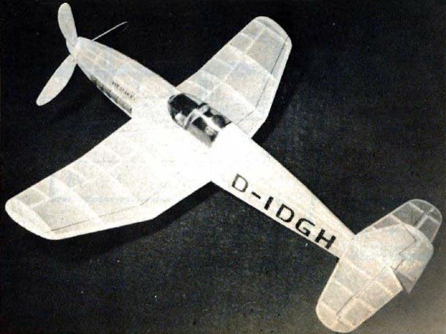 Heinkel He 100 V8 (oz2788) by Dave Katagiri from Flying Models  1976
