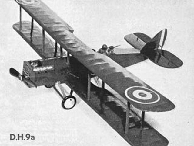 DH9a (oz2819) by Eric Fearnley from Model Aircraft 1954