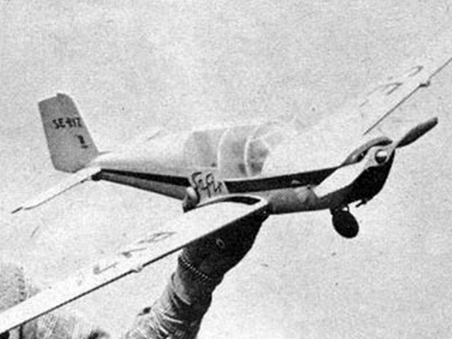 Saab 91C Safir (oz2823) by Hoh Fang-Chiun from American Modeler 1958