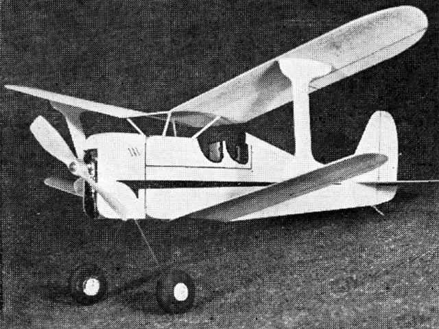 Laird Biplane (oz2824) by Dick Struhl from Model Airplane News 1950