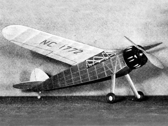 Cessna C-34 (oz284) by Dick Korda from Model Airplane News 1939