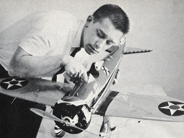 Boeing P-26A Peashooter (oz2842) by Jerry Worth from Model Airplane News 1965