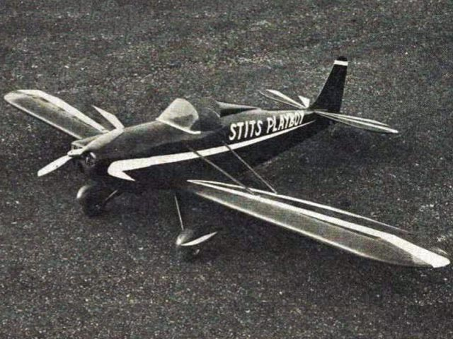 Stits Playboy (oz2843) by Bud Atkinson from American Aircraft Modeler 1968