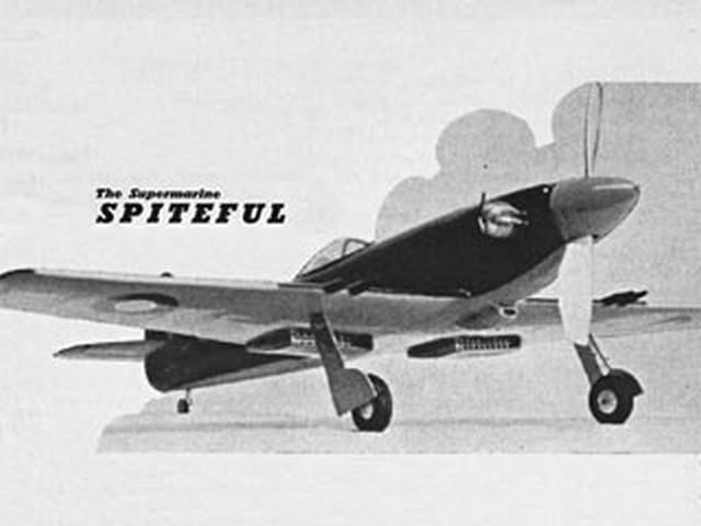 Supermarine Spiteful (oz2850) by JR Bishop from Model Aircraft 1954