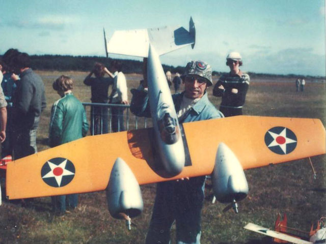 Grumman XF5F-1 Skyrocket - completed model photo