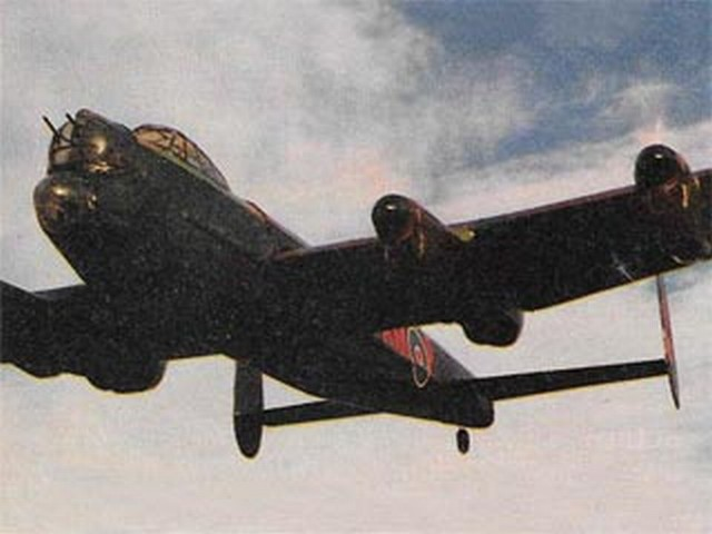 Lancaster Bomber (oz2860) by Peter Holland from Radio Modeller 1987