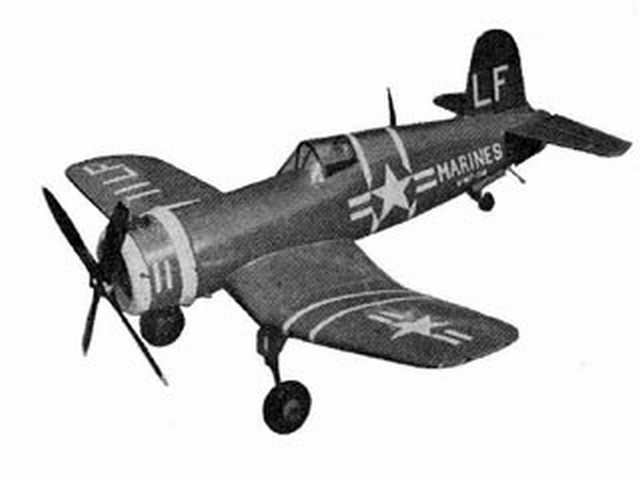 Vought F4U-2 Corsair (oz2886) by PMH Lewis from Model Aircraft 1953