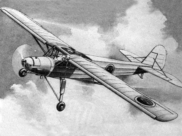 Fieseler Fi 156 Storch (oz2894) by Carl Gustaf Ahremark from Air Trails 1953
