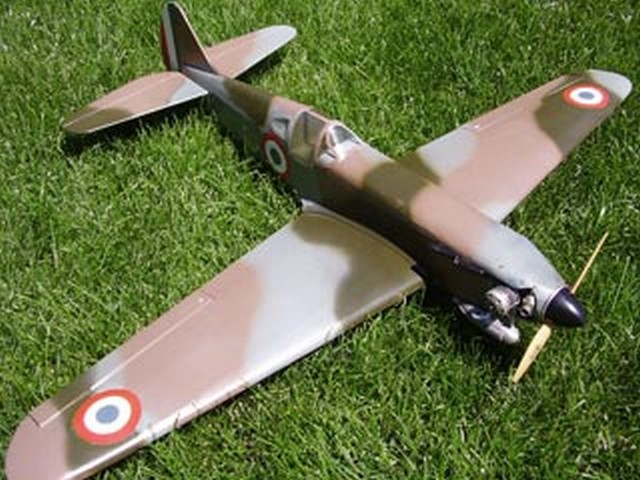 Dewoitine D-520 (oz2897) by Dan Reiss from Flying Models 1976