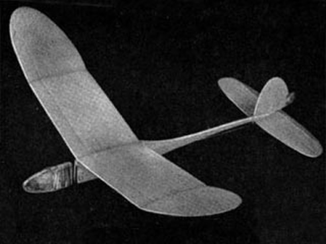 Kinetic Energy Chuck Glider (oz2898) by George Woolls from Aeromodeller 1956