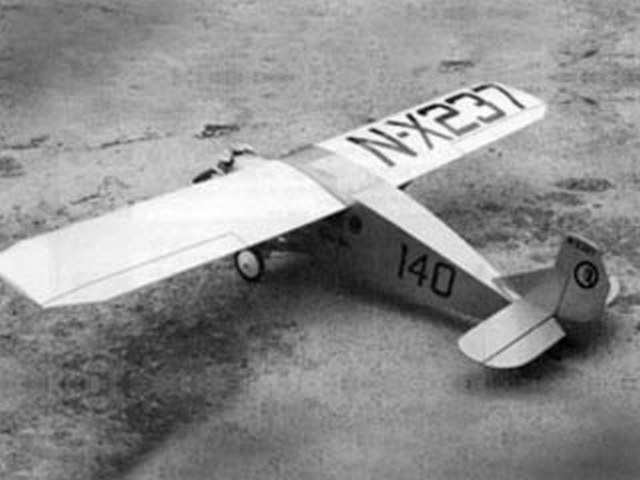 Bellanca WB-2 Columbia (oz290) from Model Aircraft Engineer 1934