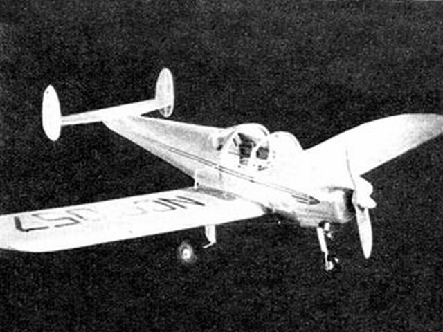 Ercoupe (oz2946) by Morris Mountjoy from Model Airplane News 1947
