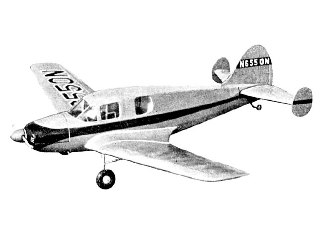 Bellanca Cruisemaster (oz2955) by Geoffrey Gannon from Model Aircraft 1955