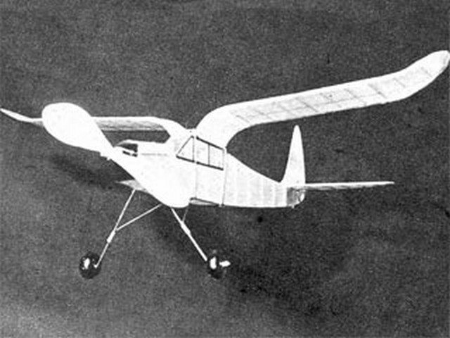 Cabin Gull Wing (oz2962) by William Vassallo from Model Airplane News 1947