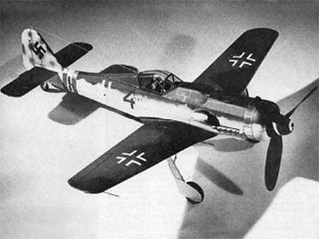 Focke Wulf 190-D9 (oz2971) by Pres Bruning from Flying Models 1973
