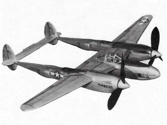 P-38F Lightning - completed model photo
