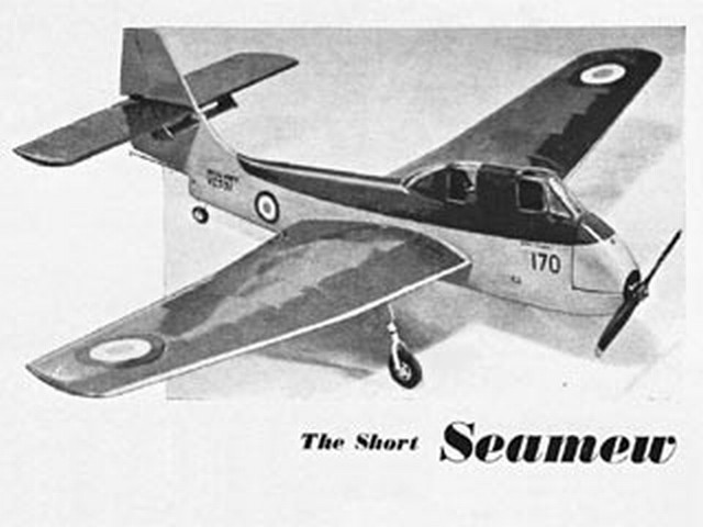 Short Seamew (oz2989) by Eric Fearnley from Model Aircraft 1955