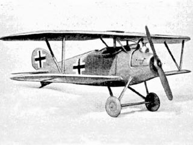Albatros DV (oz3032) by PMH Lewis from Model Aircraft 1955