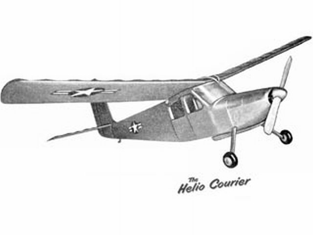 Helio Courier (oz3035) by Joe Fergusson from Model Aircraft 1956