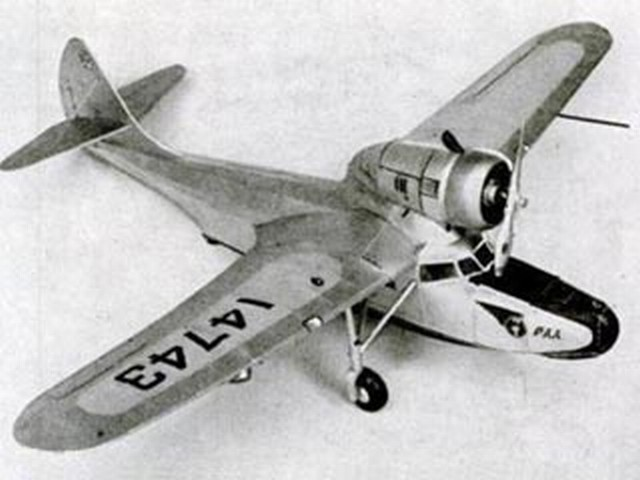 Fairchild Amphibian - completed model photo