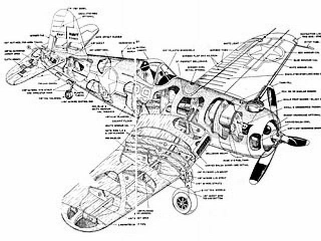 Chance Vought F4U-1A Corsair (oz3114) by Walt Musciano from American Modeler 1963