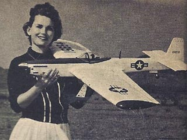 Mustang (oz3119) by Clair Sieverling from Model Airplane News 1965