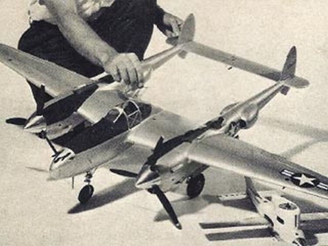 P-38J Lightning (oz3124) by Don Yearout from Model Airplane News 1965