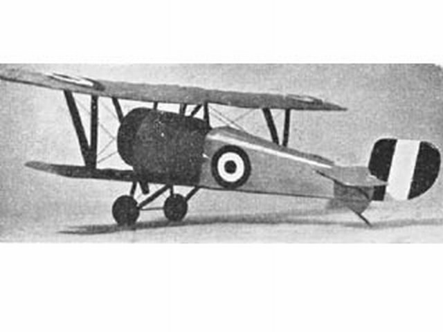 Nieuport Scout (oz3146) by PMH Lewis from Model Aircraft 1958