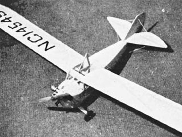 Aeronca C-3 (oz3149) by PMH Lewis from Model Aircraft 1958