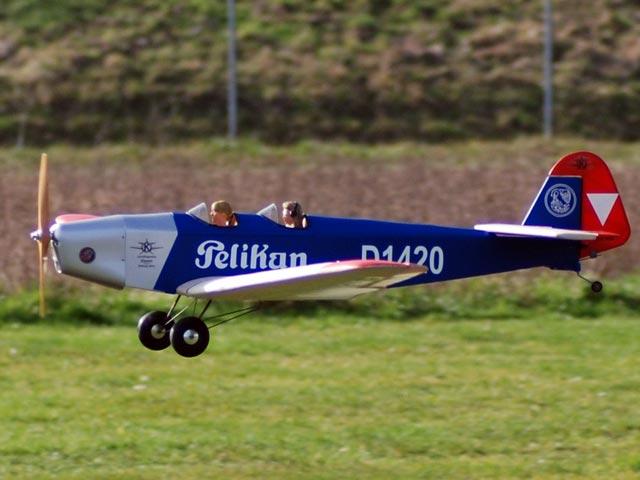 Klemm L25d - completed model photo