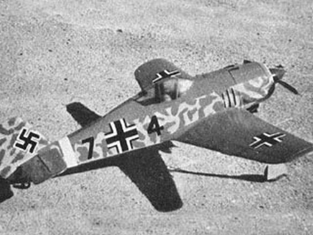Fw 190 (oz3219) by MF Hawkins from Model Aircraft 1958