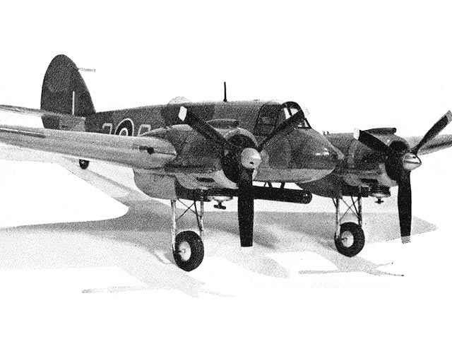 Bristol Beaufighter X (oz3258) by Brian Fry from Model Aircraft 1958