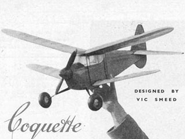 Coquette (oz33) by Vic Smeed from Aeromodeller 1950