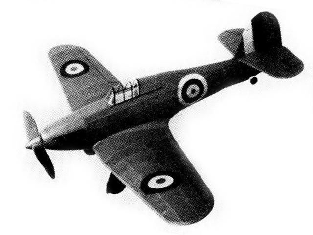 Hawker Hurricane (oz3323) by Earl Stahl from Model Airplane News 1941