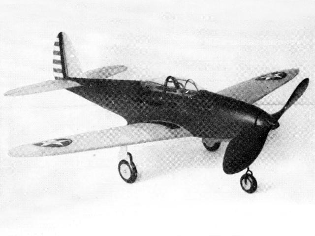 Bell Airacobra (oz3325) by Earl Stahl from Model Airplane News 1941