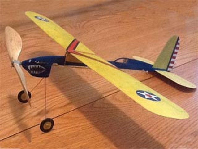 Cadet Fighter (oz3353) by Dick Ealy from Flying Models 1951