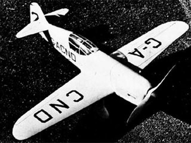 Percival Mew Gull (oz3373) by S Cal Smith from Flying Models 1949