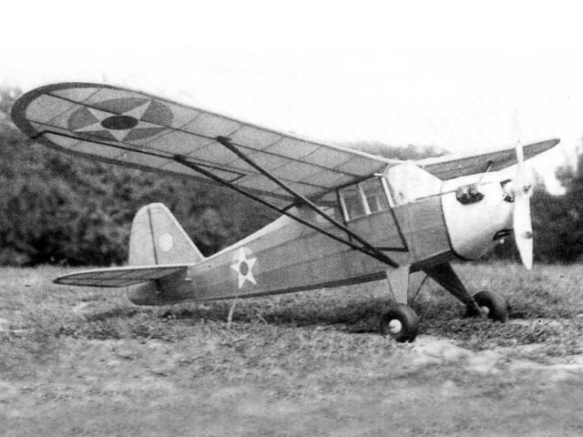 Taylorcraft O-57 (oz3379) by Sidney Struhl from Model Airplane News 1942