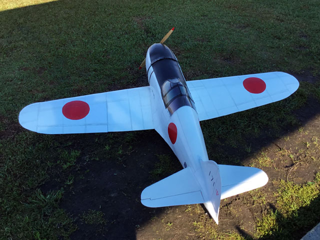 Mitsubishi J2M3 Raiden - completed model photo