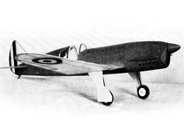 Caudron Cyclone (oz3432) by Earl Stahl from Model Airplane News 1940